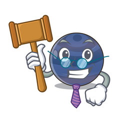Judge picture neptune planet in cartoon form vector