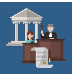 Law design Justice icon Flat vector image