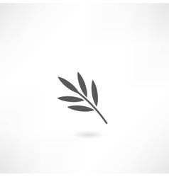 leaf tree icon vector image