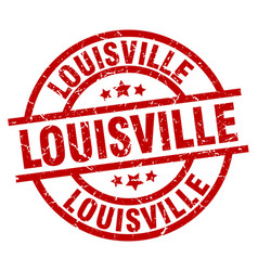 Louisville red round grunge stamp vector