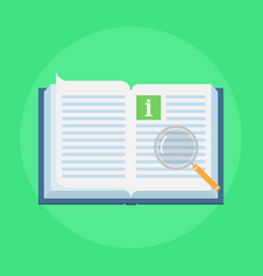 Manual book icon vector