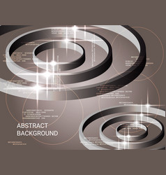 metal circles sparkle on the background vector image