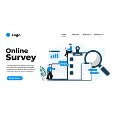 modern flat design online survey can be used vector image