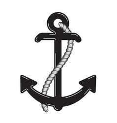 nautical anchor logo icon maritime sea ocean boat vector image