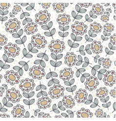ornamental sunflowers seamless pattern vector image