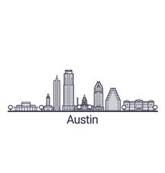outline austin banner vector image