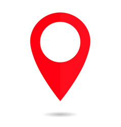 pin map icon drop place location red vector image