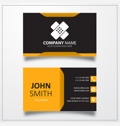 Plaster bandage icon business card template vector