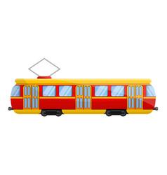 retro tram car icon cartoon style vector image