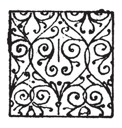 Scrollwork damaskeening is decorative patterning vector