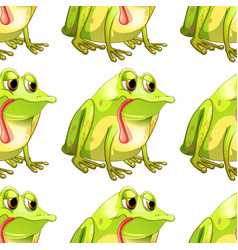 seamless pattern tile cartoon with frog vector image