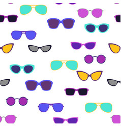 seamless pattern with stylish sunglasses vector image