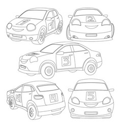 Set of cars vector