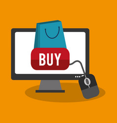 shopping and sale design vector image