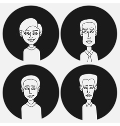 Sketch people icons vector