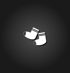 socks icon flat vector image