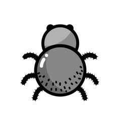 Spider insect animal and dangerous symbol icon vector