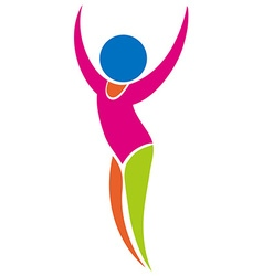 Sport icon for gymnastics floor exercise vector image