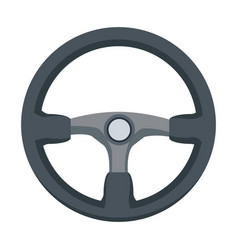 Steering wheel car auto control icon vector