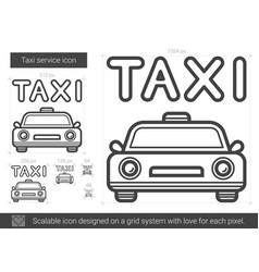 Taxi service line icon vector