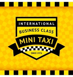 Taxi symbol with checkered background - 04 vector