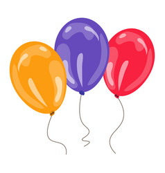 Three colorful balloons vector