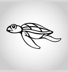 turtle logo icon vector image