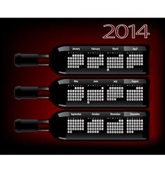 Wine 2014 vector