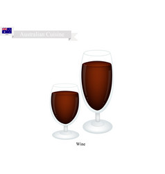 Wine popular alcoholic beverage in australia vector
