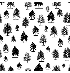 Abstract forest pattern with trees for your design vector image vector image