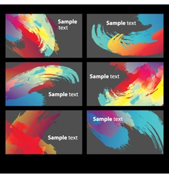 Abstract Paint Banners vector image