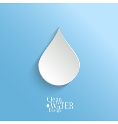 Abstract Paper Water Drop on Blue Background vector image