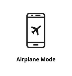 airplane mode line icon vector image