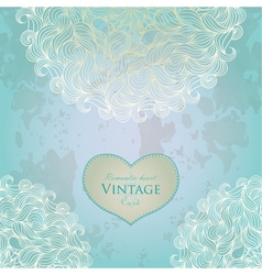 Aquamarine template design for card vector image vector image