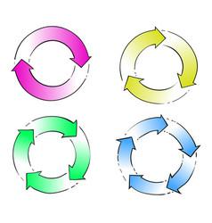 circle arrow hand drawing vector image vector image