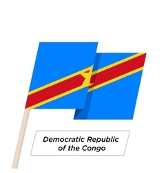 Democratic Republic of the Congo Ribbon Waving vector image