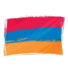 grunge armenia flag vector image vector image
