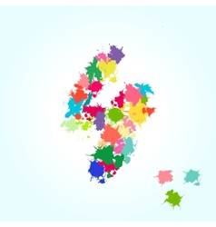 number four splash vector image