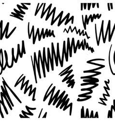 Seamless stylish hand drawn pattern vector image vector image