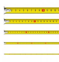 Tape measure in centimeters vector image