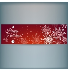 Web banner with snowflakes vector