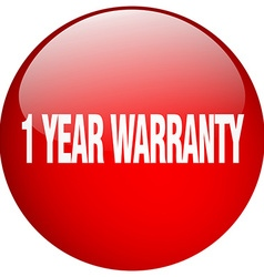1 year warranty red round gel isolated push button vector image vector image