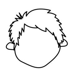 figure sticker face boy icon vector image
