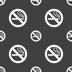 no smoking icon sign Seamless pattern on a gray vector image