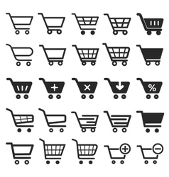 Shopping Cart icon set vector image vector image