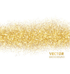 sparkling glitter border isolated on white vector image