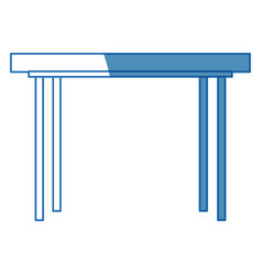 wooden table office furniture equipment icon vector image vector image