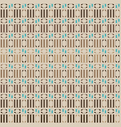 beige geometric ornament vector image vector image