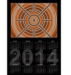 center kalendar schwarz 380 vector image vector image
