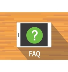 faq frequently asked question vector image vector image
